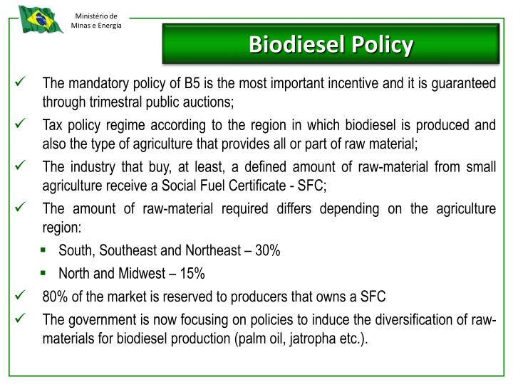 Biodiesel Policy