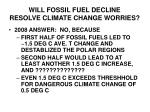 will fossil fuel decline resolve climate change worries