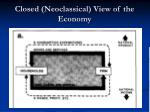 closed neoclassical view of the economy