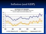 inflation and gdp