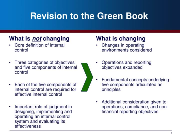 Revision to the Green Book
