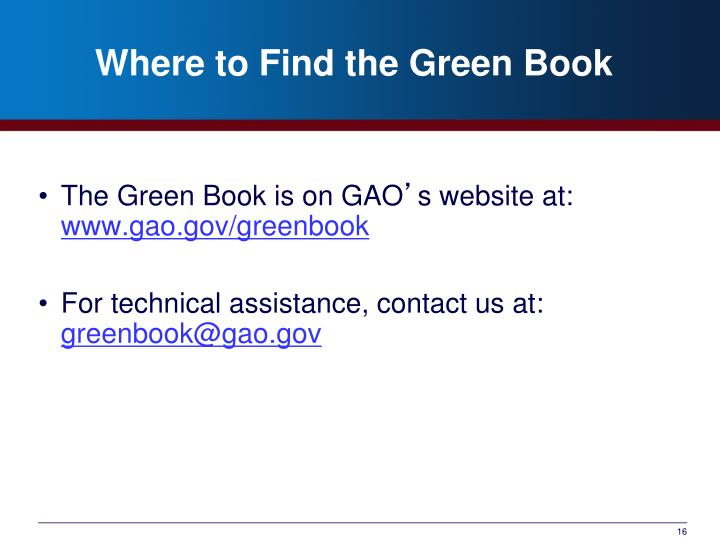Where to Find the Green Book