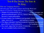 text b the dream the stars dr king