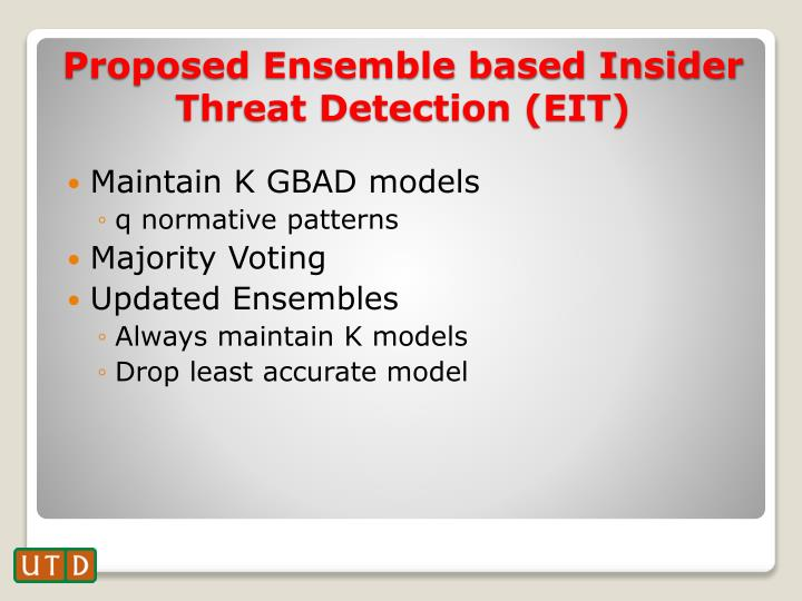 Maintain K GBAD models