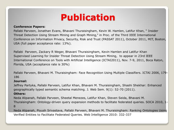 Conference Papers: