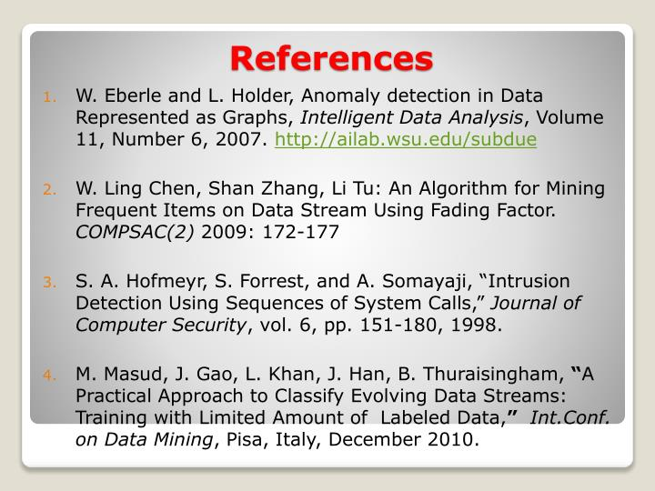 W. Eberle and L. Holder, Anomaly detection in Data Represented as Graphs,