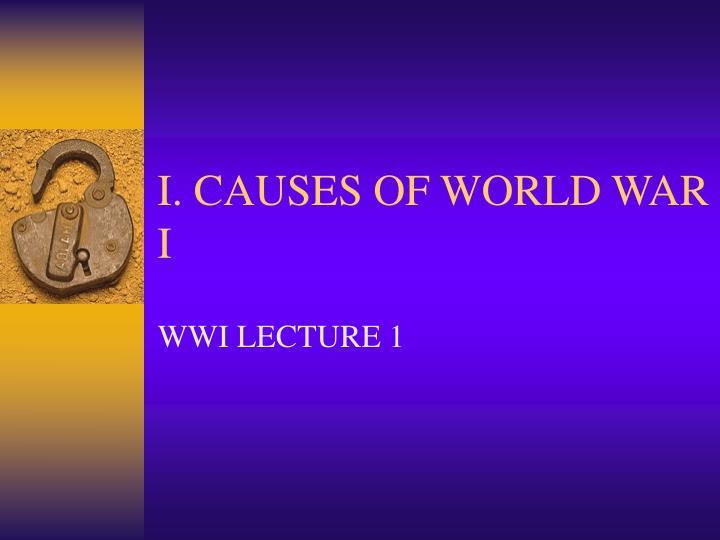 i causes of world war i n.