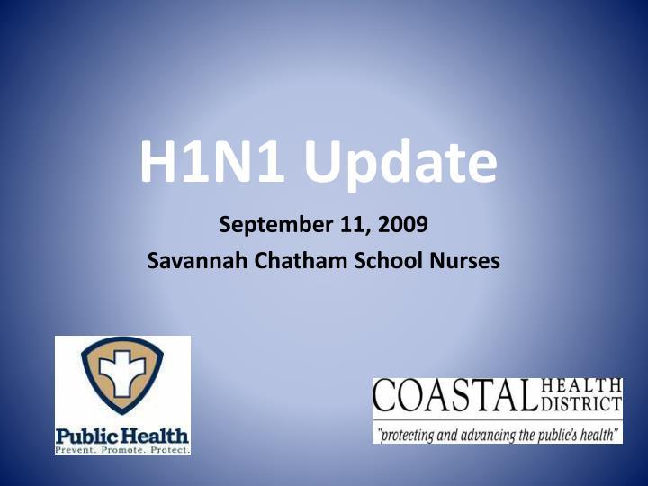 h1n1 update n.