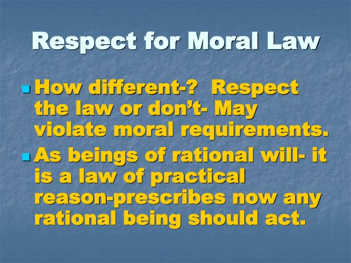 Respect for Moral Law