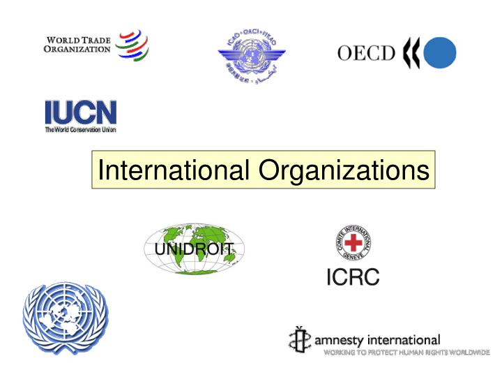 do you agree that international organizations An international organization can be defined, following the international law commission, as an 'organization established by a treaty or other instrument governed by international law and possessing its own international legal personality.