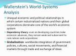 wallerstein s world systems analysis