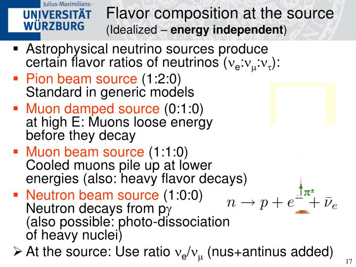 Flavor composition at the source