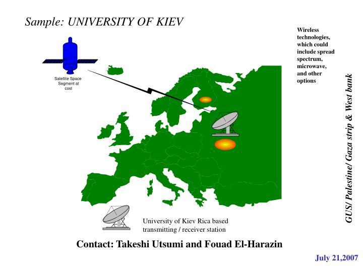Sample: UNIVERSITY OF KIEV