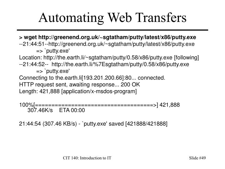 Automating Web Transfers