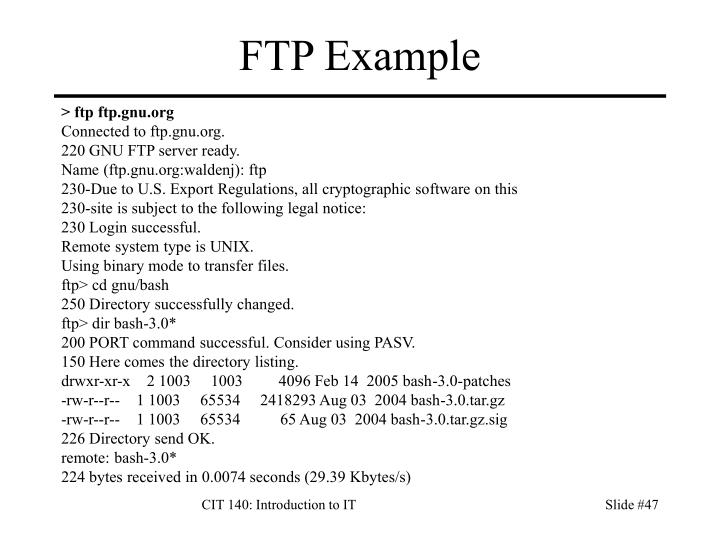 FTP Example