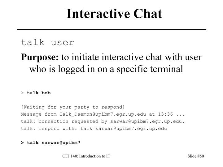 Interactive Chat