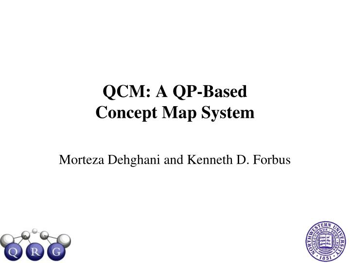 Qcm a qp based concept map system