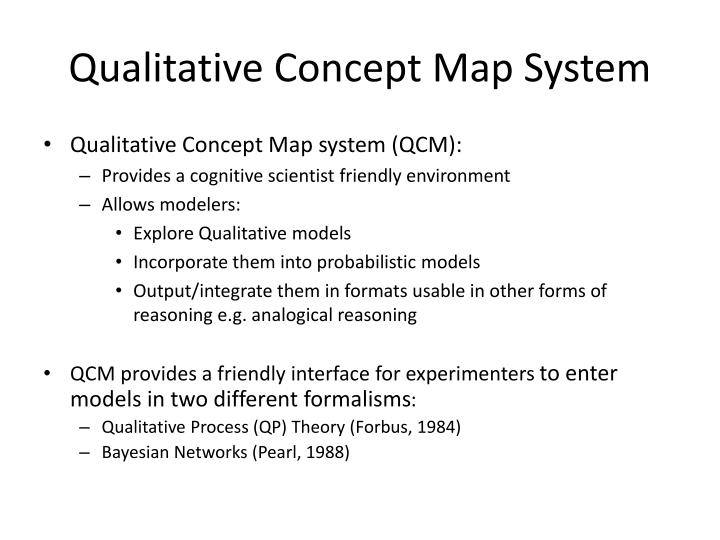 Qualitative Concept Map System