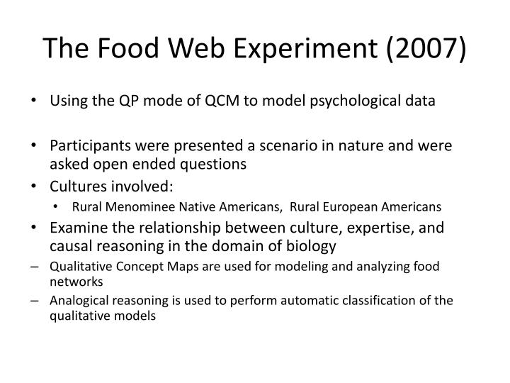 The Food Web Experiment (2007)