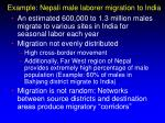 example nepali male laborer migration to india