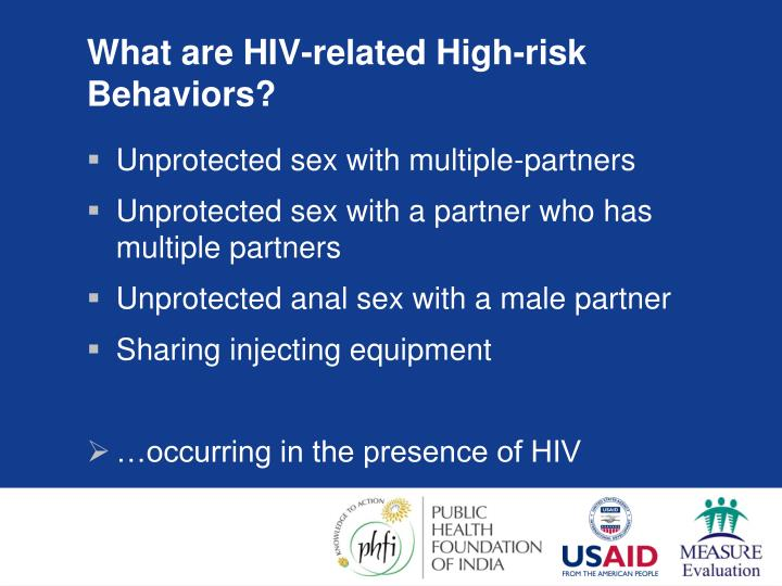 What are HIV-related High-risk Behaviors?