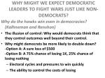 why might we expect democratic leaders to fight wars just like non democrats2