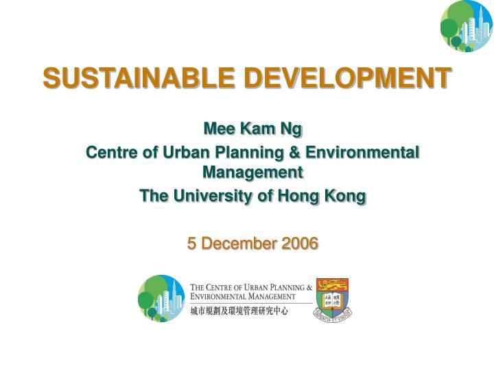 sustainable development n.