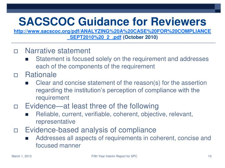 SACSCOC Guidance for Reviewers