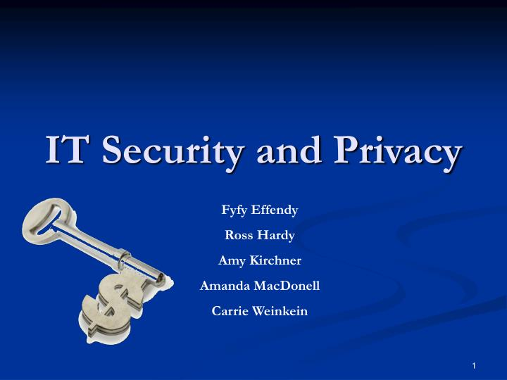 it security and privacy n.
