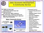 jobs economic development community service