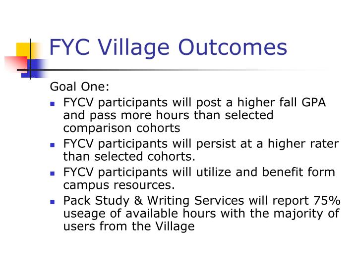 FYC Village Outcomes