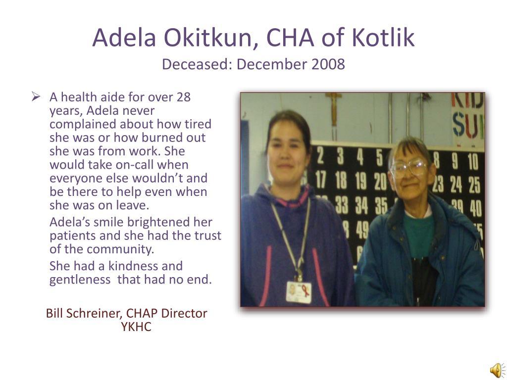 PPT - 2011 Community Health Aide Program Shining Star Awards
