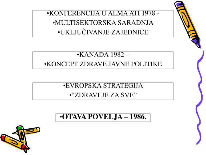 KONFERENCIJA U ALMA ATI 1978 -
