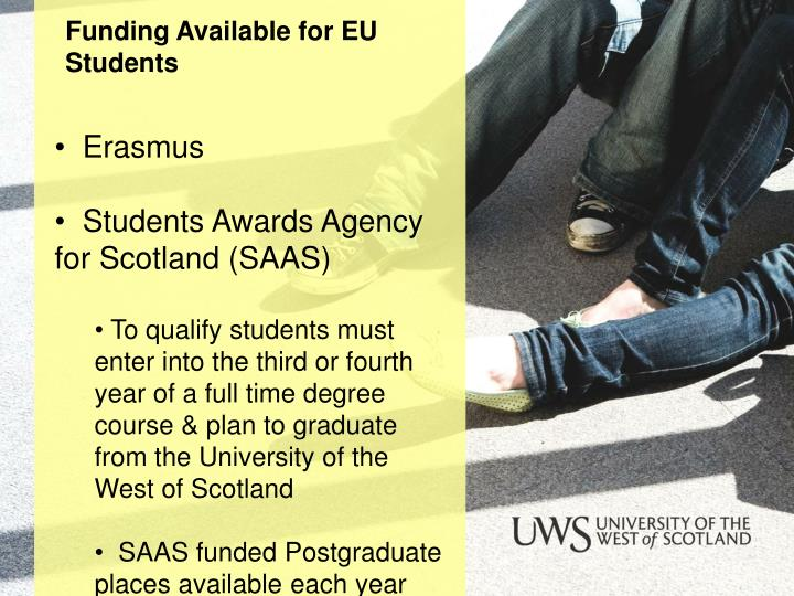 Funding Available for EU Students