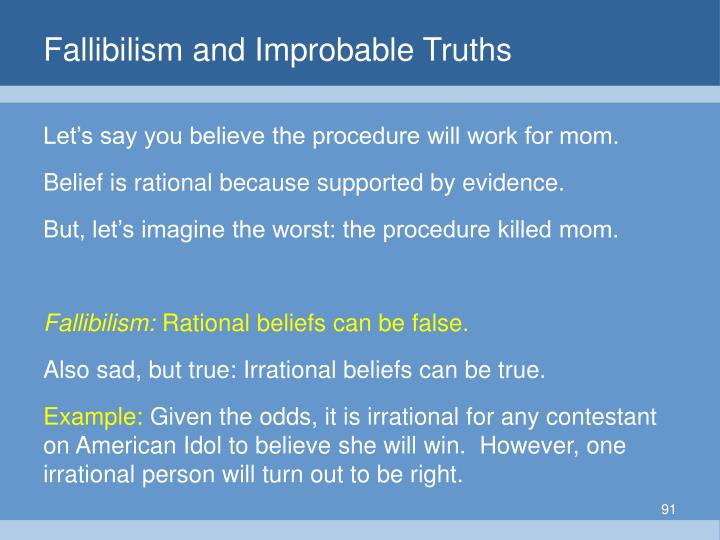 Fallibilism and Improbable Truths