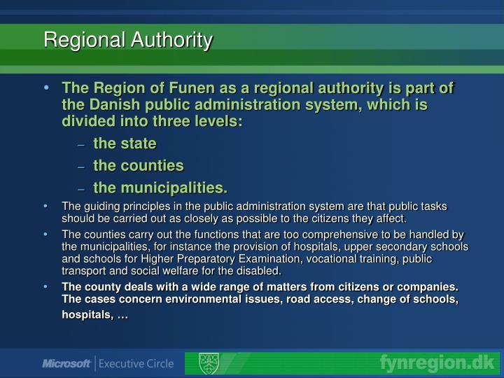 Regional authority