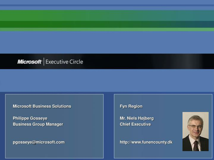 Microsoft Business SolutionsFyn Region