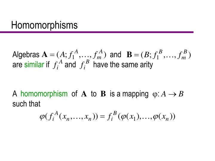 Algebras                                     and