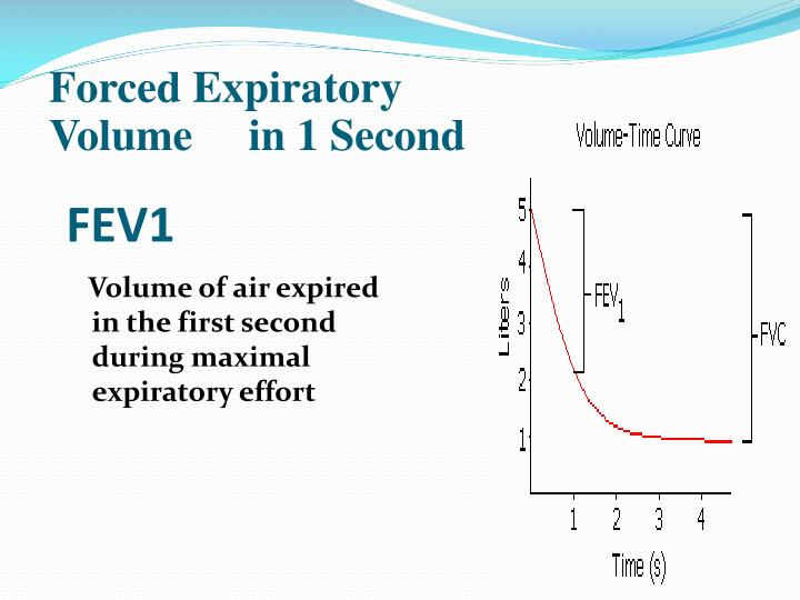 Forced Expiratory Volume     in 1 Second