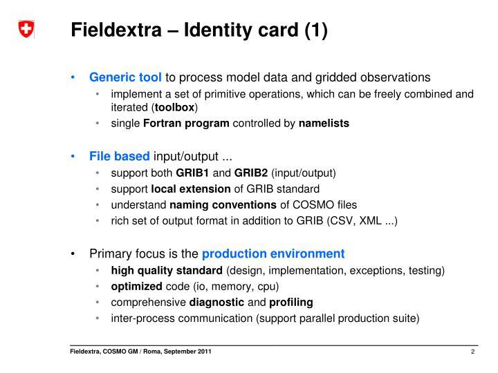 Fieldextra identity card 1