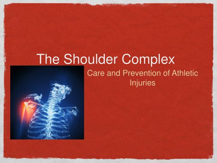 the shoulder complex n.