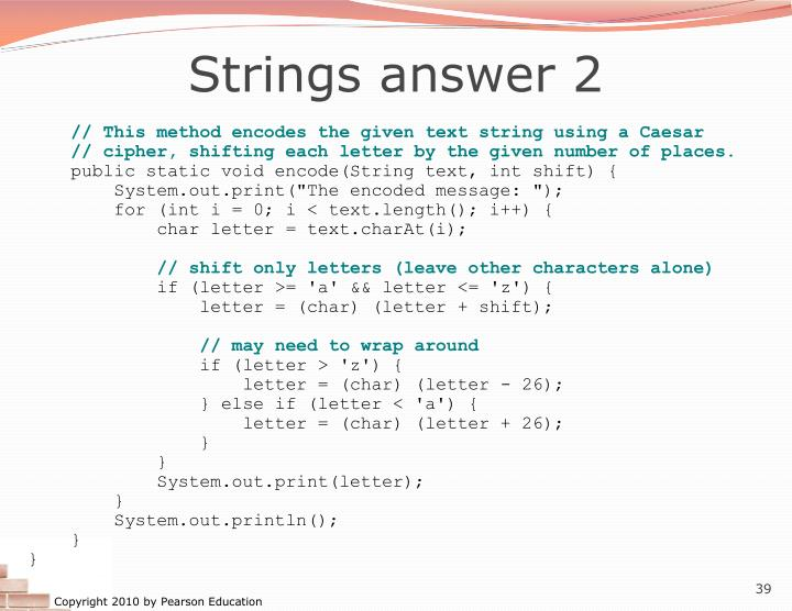 Strings answer 2