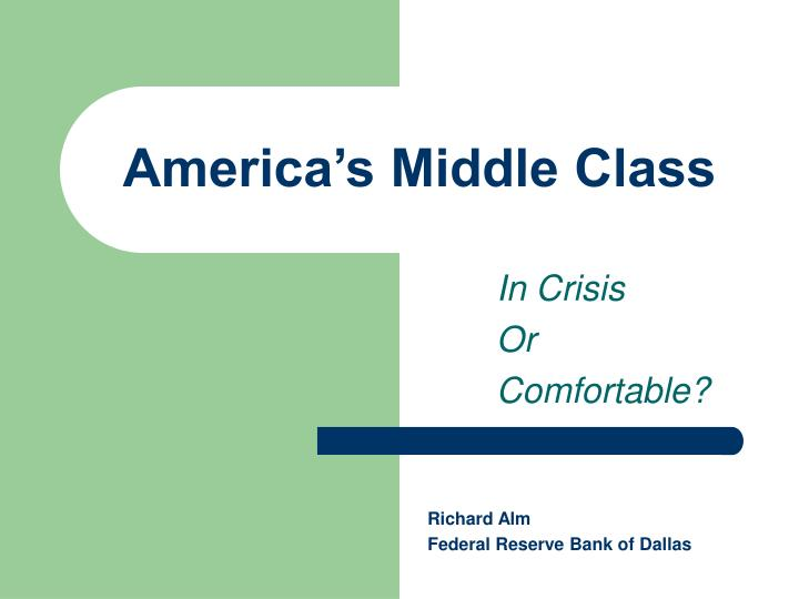 america s middle class n.