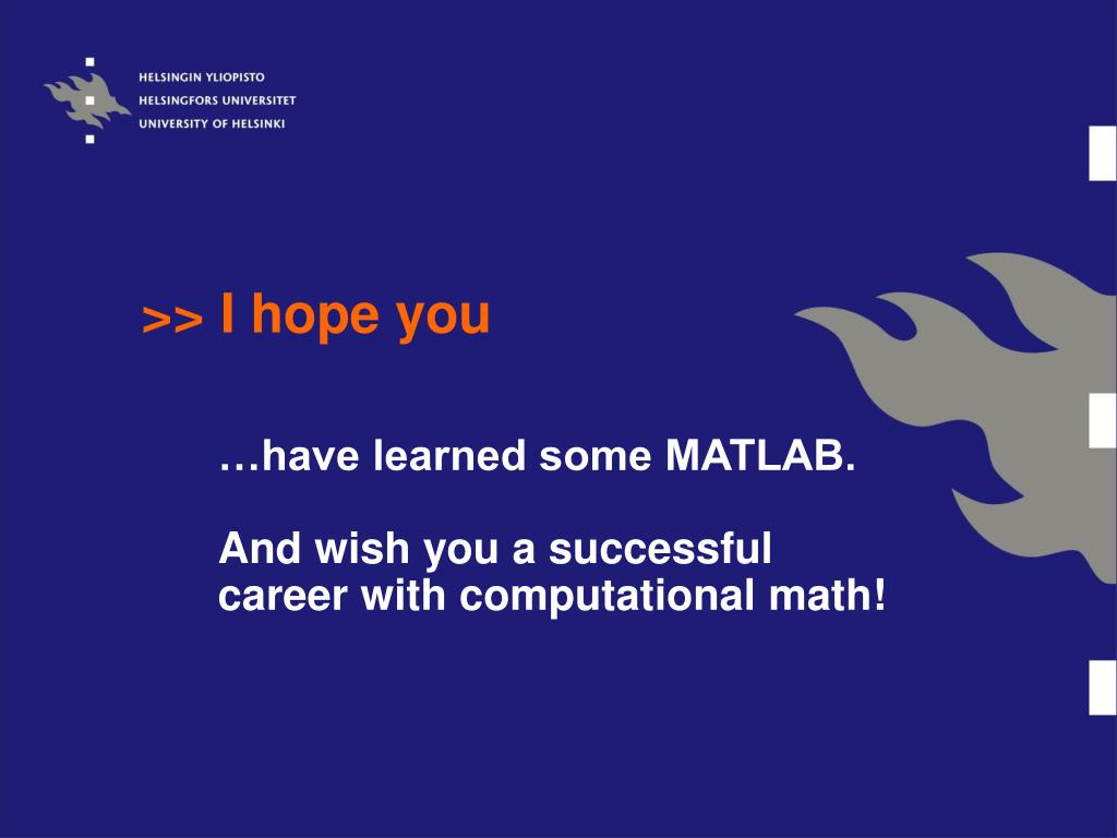 PPT - Introduction to MATLAB Session 5 PowerPoint