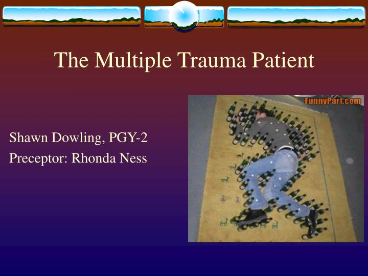 the multiple trauma patient n.