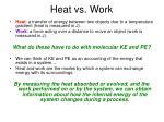 heat vs work