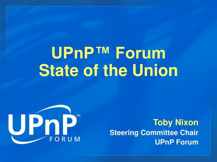 UPnP™ Forum