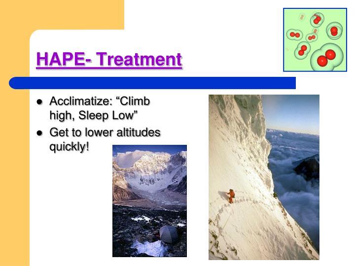 HAPE- Treatment