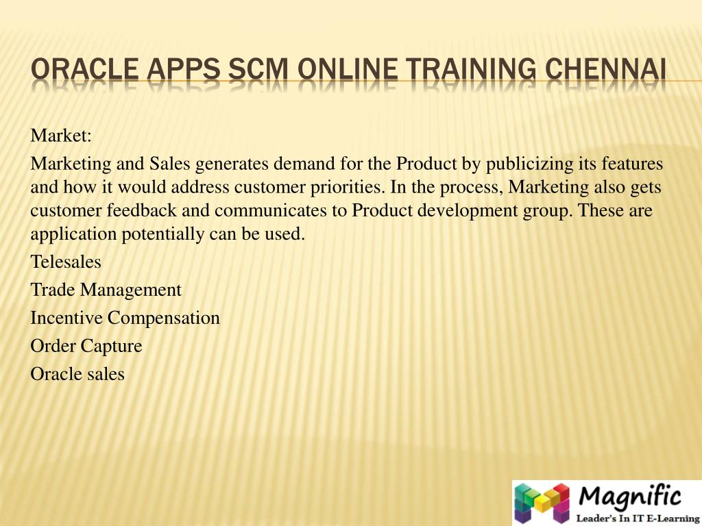 PPT - oracle apps scm online training in sweden PowerPoint
