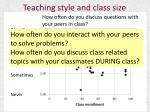 teaching style and class size1